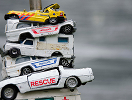 Stapels – speelgoedauto's